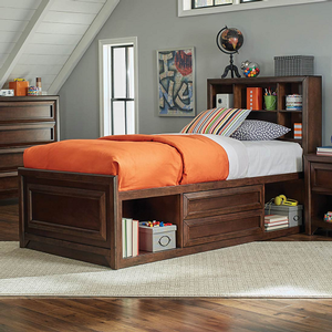 0168T Twin Storage Bed  - Finish: Maple Oak<br><br>Box Spring Not Required<br><br>Dimensions: 41.50W x 85.25D x 48.25H