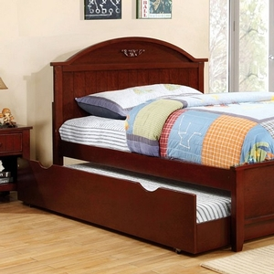 0171T Twin Bed w/ Headboard Accent - Finish; Cherry<br><br>**Optional Trundle, Trundle/Drawers or Underbed Drawers**<br><br>Available in Twin Size<br><br>Available in White<br><br>Dimensions: 82 1/4