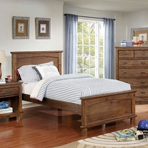 0173T Twin Bed - Finish: Dark Oak<br><br>**Trundle Optional**<br><br>Slat Kit Included<br><br>Available in Full Size<br><br>Dimensions: 80 1/2