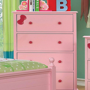 Item # 017CH Chest - Finish: Pink<br><br>Available in White Finish<br><br>Dimensions: 29W x 17D x 42H