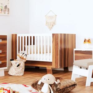 017CRB Modern Convertible Crib - Dimensions: 53'W x 28 7/8'D x 34 3/4'H