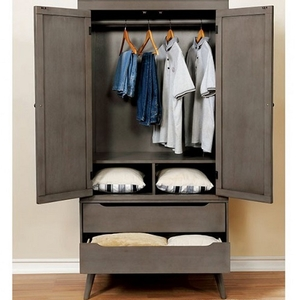 Item # 019AM Modern Armoire in Gray