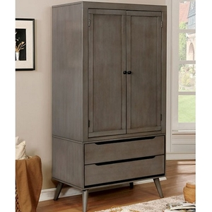 019AM Modern Armoire in Gray - Finish: Gray<br><br>Available in White, Black or Oak Finish<br><br>Dimensions: 40