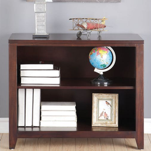 019BC 2 Shelve Bookcase - Finish: Espresso<br><br>Dimensions: 37
