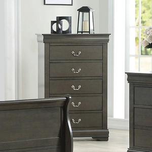 019CH Dark Gray Chest - Finish: Dark Gray<br><br>Available in Black, Cherry, Antique Gray, White & Platinum<br><br>Dimensions: 31