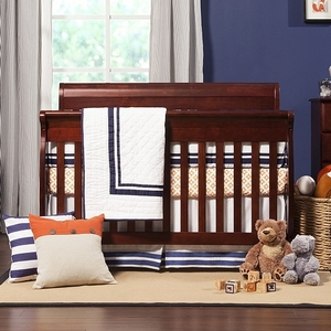 017CRB Sleigh Convertible Crib in Cherry - Finish: Cherry<br><br>Available in Chestnut, White, Honey Oak, Ebony Black, Espresso & Grey<br><br>Made in Taiwan<br><br>Assembly Required<br><br>Dimensions: 54.375