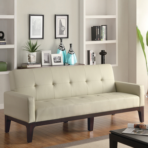 Item # 020FN Tufted Sofa Bed w/ Track Arms - Finish: Cream<br><br>Dimensions: Sofa: 79L x 34W x 35H<br><br>Depth: 22<br><br>Sofa Bed: 79L x 45W x 23H