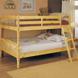 Item # 0402FB Full/Full Bunk Bed - Finish: Natural<br><br>Available in Twin/Twin Bunk Bed<br><br>Slats System Included<br><br>Dimensions: 81