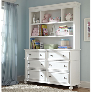 Item # 022HC Bookcase/Hutch - 3 Storage areas<br><br>1 fixed shelf<br><br>1 adjustable shelf<Br><br>Wire access<br><br>