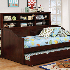 023DB Daybed in Espresso - Finish: Dark Walnut<br><br>Available in Gray Finish or White Finish<br><br>Trundle Optional<br><br>Foundation Required<br><br>Dimensions: 77 1/2