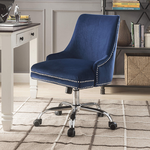 024CHR Blue Velvet Chair - Finish: Blue Velvet<br><br>Dimensions: 24