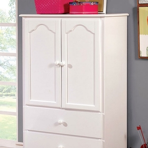 Item # 029AM 2 Drawer Armoire in White - Finish: White<br><br>Available in Pink<br><br>Dimensions: 32 1/8