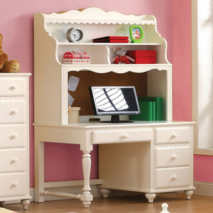Item # 029HC Princess Style Hutch - Finish: White<br><br>Desk Sold Separately<br><br>Dimensions: 46