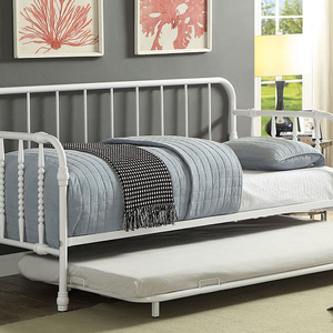 029MDB Metal Daybed w/ Trundle - Finish: White<br><br>Available in Black Finish<br><br>Mattress Ready<br><br>Dimensions: 79 7/8