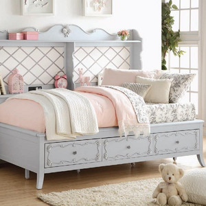 030DB Antique Style Full Size Daybed w/ Storage - Finish: Gray<br><br>Available in Twin Size<br><br>No Box Spring Required<br><br>Dimensions: 82