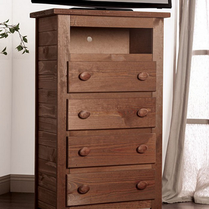 030MCH 4 Drawer Media Chest - Finish: Mahogany<br><br>Style: Rustic<br><br>Made in the USA<br><br>Dimensions: 30