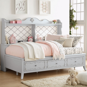 030DB Antique Style Full Size Daybed w/ Storage - Finish: Gray<br><br>Full Size Daybed<br><br>Available in Twin Size<br><br>Dimensions: 82