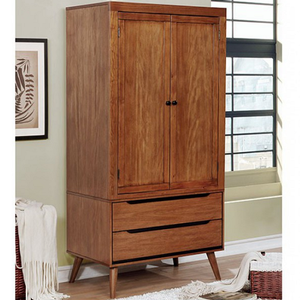 Item # 031AM Modern Armoire in Oak - Finish: Oak<br><br>Available in White, Black or Gray<br><br>Dimensions: 36