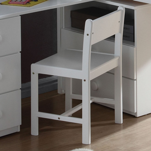 Item # 032CHR White Desk Chair - Finish: White<br><br>Loft Bed Sold Separately<br><br>Dimensions: 30