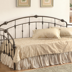 032MBD Twin Metal Daybed - Finish: Dark Bronze<br><br>Slat Kit Included<br><br>Dimensions: 80.75