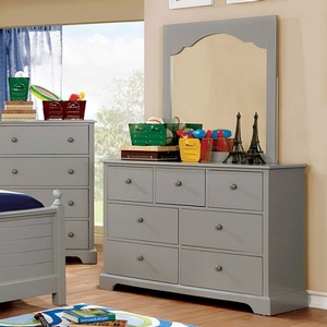 033M Mirror in Gray - Finish: Gray<br><br>Available in Cherry & Blue<br><br>Dimensions: 32 1/4