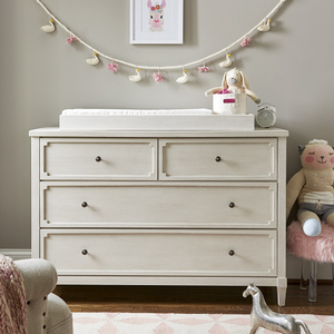 Item # 009CHT Changing Station - Finish: Alabaster<br><br>Dresser Sold Separately<br><br>Dimensions: 43W x 18D x 5H