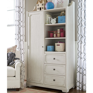 Item # 036AM ARMOIRE - Finish: Alabaster<br><br>Dimensions: 39