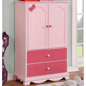 Item # 037 Armoire - Finish: Pink<br><br>Available in White finish<br><br>Dimensions: 32 1/8