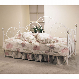 037MDB Twin Daybed w/ Porcelain Knobs - Finish: White<br><br>Dimensions: 79