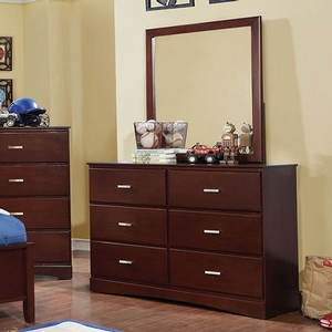 040M Mirror in Cherry - Finish: Cherry<br><br>**Dresser Sold Separately**<br><br>Available in Blue, White or Pink<br><br>Dimensions: 32 1/4