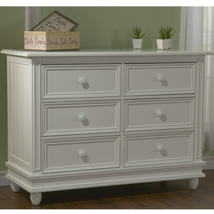 Item # 041DR 6 Drawer Double Dresser - Finish: White<br><br>Available in Onyx, Slate & Stone Finish<br><br>Dimensions: 50