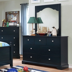 Item # 043DR 7 Drawer Dresser in Blue - Finish: Blue<br><br>Available in Cherry & Gray<br><br>Dimensions: 48