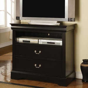 043MCH TV Console - Finish: Black<br><br>Available in Cherry Finish<br><br>Dimensions: 37