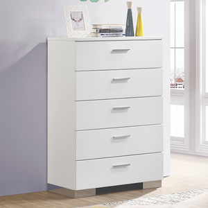 Item # 044CH - Finish: Glossy White<br>Dimensions: 35W x 17.75D x 51H