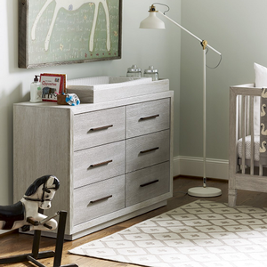 045CHT Changing Table - Finish: Sea Salt<br><br>DRESSER SOLD SEPARATELY<br><br>Dimensions: 43W x 18D x 5H