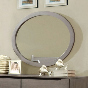 045M Oval Mirror - Finish: Gray<br><br>Dresser Sold Separately<br><br>Available in White, Black or Oak Finish<br><br>Dimensions: 40