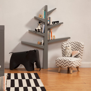 Item # 045BC Tree Bookcase - Finish: Grey/Cool Mint<br><br>Available in Grey, White & Green Finish<br><br>Dimensions: 6