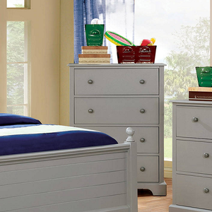 046CH 4 Drawer Chest in Gray - Finish: Gray<br><br>Available in Cherry & Blue<br><br>Dimensions: 29