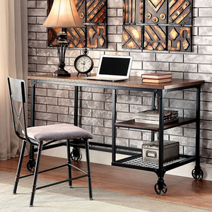 Item # 047D Desk in Antique Black - Finish: Antique Black<br><br>Chair Sold Separately<br><br>Dimensions: 48