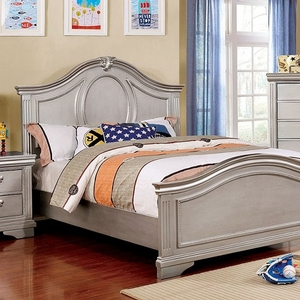 048FB Full Bed w/ Wooden Headboard - Finish: Silver Gray<br><br>Available in Twin Size<br><br>Dimensions: 81 1/2