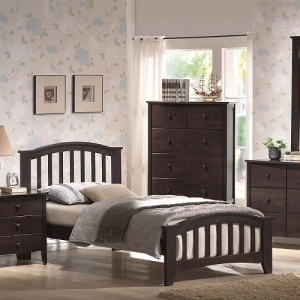 0953T Twin Bed  - Twin or full size<br><br>Mission style headboard and foot board<br><Br>Slightly tapered legs