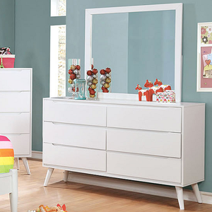 049M Rectangular Mirror - Finish: White<br><br>**Dresser Sold Separately**<br><br>Available in Black Finish<br><br>Dimensions: 40