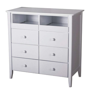 050MCH 6 Drawer TV Console - Finish: White<br><br>Available in Maple Finish<br><br>Dimensions: 35