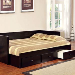 052DB Full Size Daybed W/ Drawers in Black - Cottage Style<br><br>Full Size Daybed<br><Br>Slat Kit Included<Br><br>Paneling Design<Br><br>