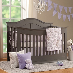 006CRB 4-in-1 Convertible Crib in Slate - Finish: Slate<br><br>Available in Dark Java & White<br><br>Made in China<br><br>Assembly Required<br><br>Dimensions: 60.25