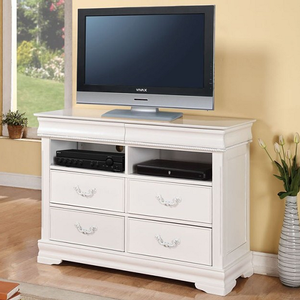 056MCH Antique Style TV Console  - Finish: White<br><br>Dimensions: 48
