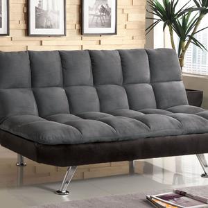 Item # 057FN Futon Sofa - Finish: Gray<br><br>Dimensions: Sofa: 70 1/2W x 36D x 38 1/2H<br><br>(Seat HT: 20, SEAT DP: 20)<br><br>BED: 70 1/2W x 48D x 19 1/2H