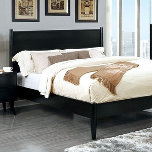 059FB Modern Style Full Bed in Black - Finish: Black<br><br>Slat Kit Included<br><br>Available in Black<br><br>Available in White<br><br>Dimensions: 81 1/2