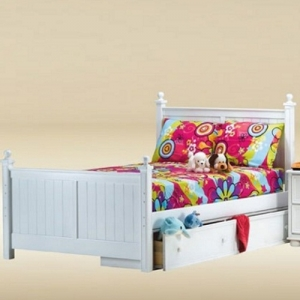 Item # 0506 Full Bed in White