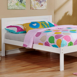 061FB Full Bed in White - Finish: White<br><br>Slat Kit Included<br><br>Available in Twin Size<br><br>Available in Gray or Dark Walnut<br><br>Dimensions: 77 1/2